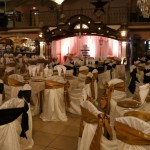 Herreras Reception Hall No Amber LED Lighting, before Lighting Bride and Groom Seat