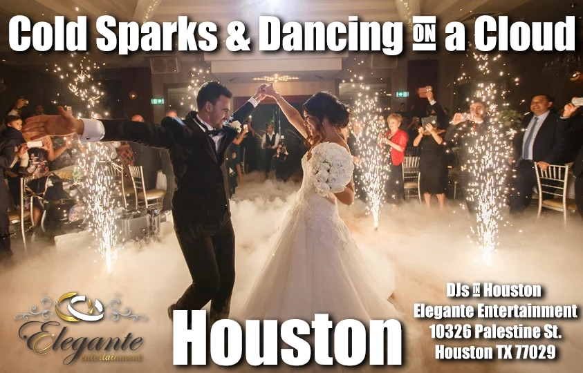 Wedding Cold Sparklers Houston and Dancing on a Cloud